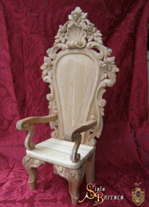 Silla tallada a mano accesorios artesanos siglo barroco tienda cofrade - Faldones para sillas ...